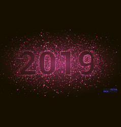 2019 happy new year background with number and vector image