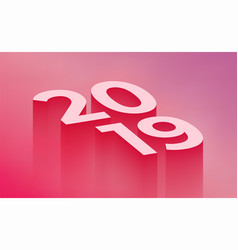 2019 new year modern vector image
