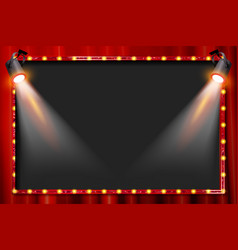 A spotlight theatre stage vector