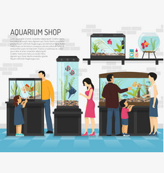 Aquarium shop vector