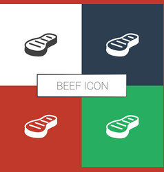 Beef icon white background vector