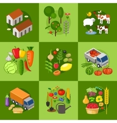 Big set of farmer elements vector