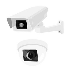 cctv security surveillance camera set vector image