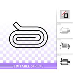 Cloth roll simple black line icon vector