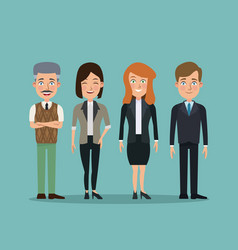 color background full body set people executives vector image