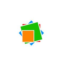 colorful box logo vector image