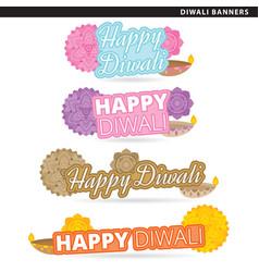 Diwali banners vector