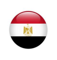egypt flag on button vector image