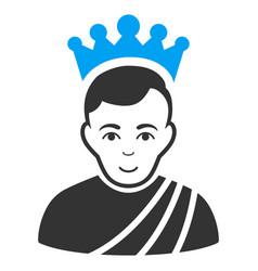 Emperor flat icon vector