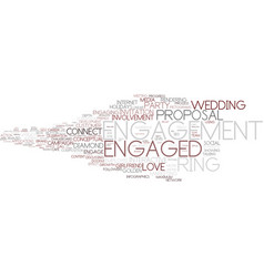 engaged word cloud concept vector image