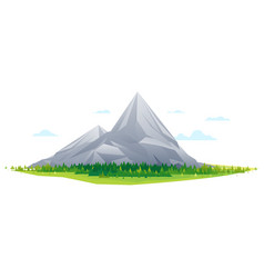 forest at the foot of high mountains vector image