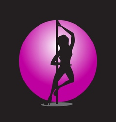 Girl on the pole vector