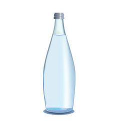 glass bottle of water vector image