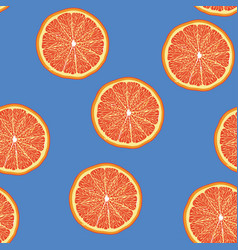 grapefruit slice pattern seamless pantone vector image