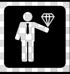 Groom diamond rounded square vector