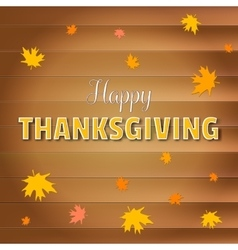Happy thanksgiving day greeting card lettering vector image
