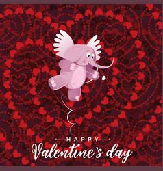 Happy valentines day cupid vector