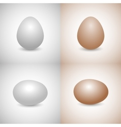 Icons egg vector