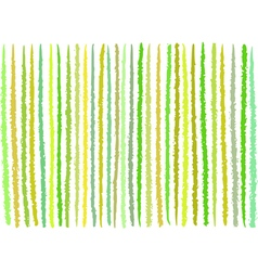 Irregular green yellow lines pattern over white vector