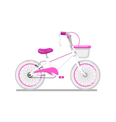 kids bicycle for girl isolated icon vector image