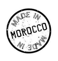 made in morocco rubber stamp vector image