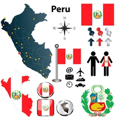 Map of Peru vector