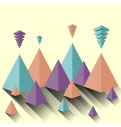 Modern abstract pyramid vector