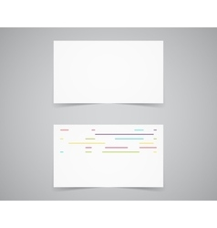 Modern light Business card template for vector