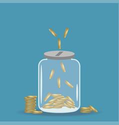 money saving jar vector image