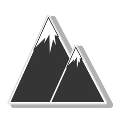 Mountains landscape icon vector