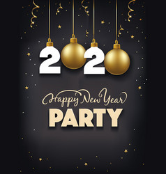 new year party gift card vector image