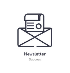 Newsletter outline icon isolated line from vector