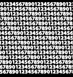Numbers black and white background vector