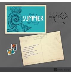 Old Postcard Design Template vector