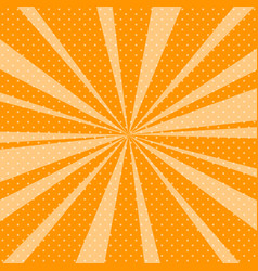 Orange pop art retro background with sunbeams vector