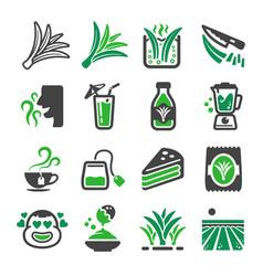 pandan icon set vector image