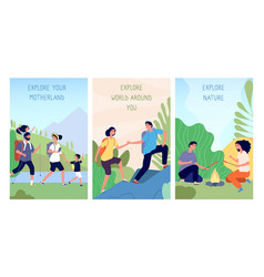 people exploring domestic tourism travel in vector image
