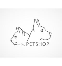 pet shop an dog and cat vector image