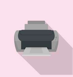 photo printer icon flat style vector image