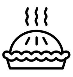 Pie line icon dessert vector