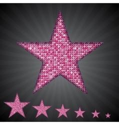 Pink sequin stars eps 10 vector