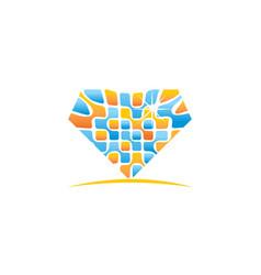 Pixel diamond vector