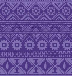 purple native american ethnic pattern vector image