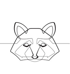 raccoon one continuous line abstract graphi vector image