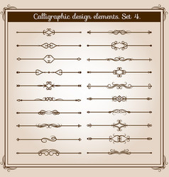 Retro simple scroll page dividers vintage vector
