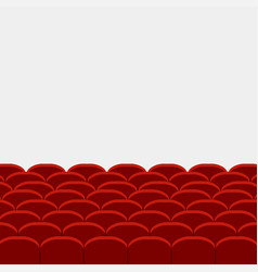 Rows of red cinema vector