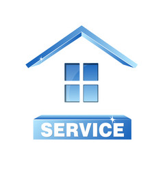 Service house symbol vector