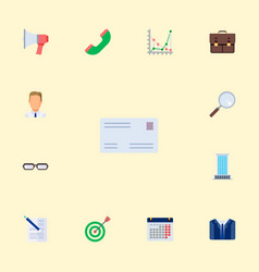 set of job icons flat style symbols with document vector image