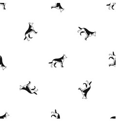 Shepherd dog pattern seamless black vector