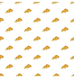 Slice of pizza pattern cartoon style vector image